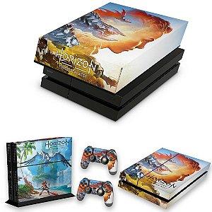KIT PS4 Fat Skin e Capa Anti Poeira - Horizon Forbidden West