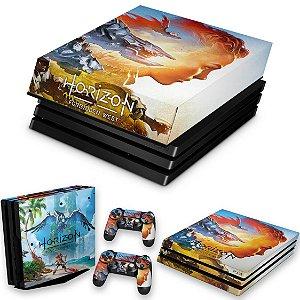 KIT PS4 Pro Skin e Capa Anti Poeira - Horizon Forbidden West
