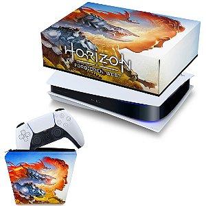 KIT PS5 Capa e Case Controle - Horizon Forbidden West