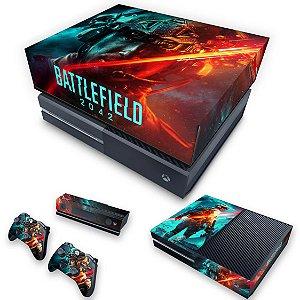 KIT Xbox One Fat Skin e Capa Anti Poeira - Battlefield 2042