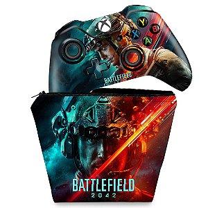 KIT Capa Case e Skin Xbox One Fat Controle - Battlefield 2042