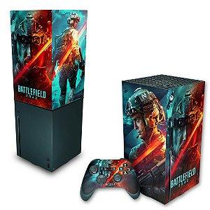 KIT Xbox Series X Skin e Capa Anti Poeira - Battlefield 2042