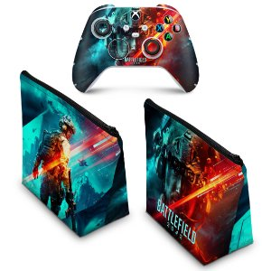 KIT Capa Case e Skin Xbox Series S X - Battlefield 2042