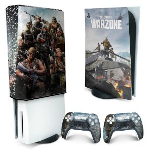 KIT PS5 Skin e Capa Anti Poeira - Call of Duty Warzone