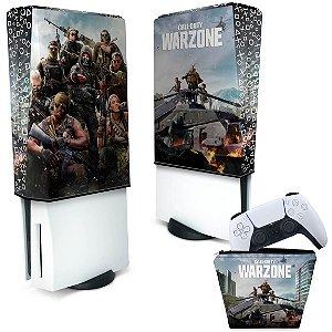 KIT Capa PS5 e Case Controle - Call of Duty Warzone