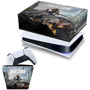 KIT PS5 Capa e Case Controle - Call of Duty Warzone