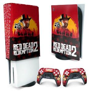 KIT PS5 Skin e Capa Anti Poeira - Red Dead Redemption 2