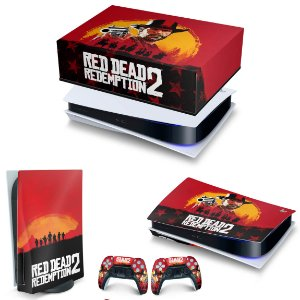 KIT PS5 Capa Anti Poeira e Skin - Red Dead Redemption 2