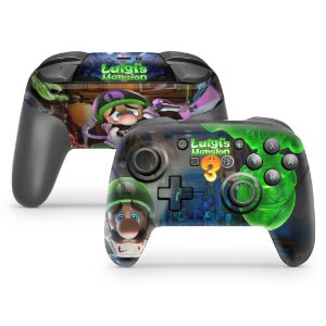 Nintendo Switch Pro Controle Skin - Luigi's Mansion 3