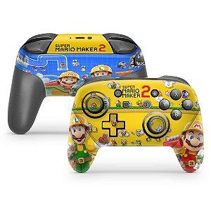 Nintendo Switch Pro Controle Skin - Super Mario Maker 2