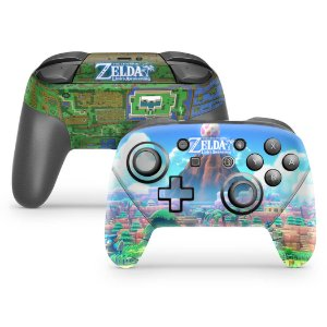 Nintendo Switch Pro Controle Skin - Zelda Link's Awakening