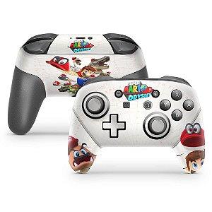 Nintendo Switch Pro Controle Skin - Super Mario Odyssey