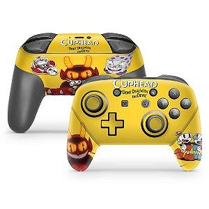 Nintendo Switch Pro Controle Skin - Cuphead