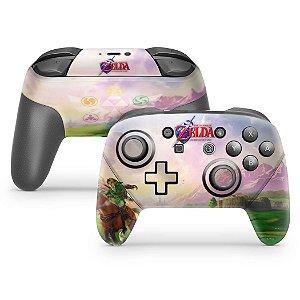Nintendo Switch Pro Controle Skin - Zelda Ocarina Of Time