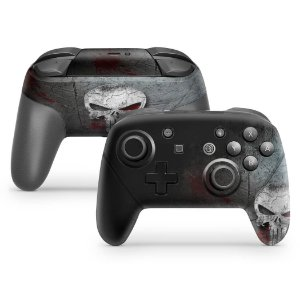 Nintendo Switch Pro Controle Skin - The Punisher Justiceiro