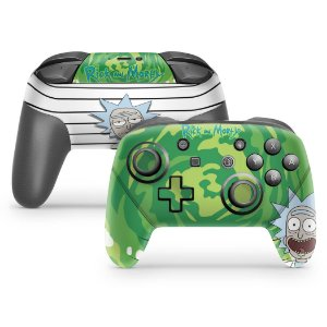Nintendo Switch Pro Controle Skin - Rick And Morty