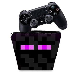 Capa PS4 Controle Case - Minecraft Enderman