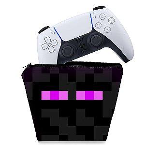Capa PS5 Controle Case - Minecraft Enderman