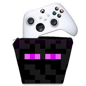 Capa Xbox Series S X Controle - Minecraft Enderman