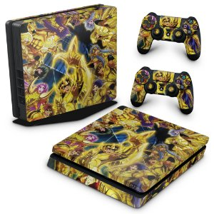PS4 Slim Skin - Cavaleiros Do Zodiaco
