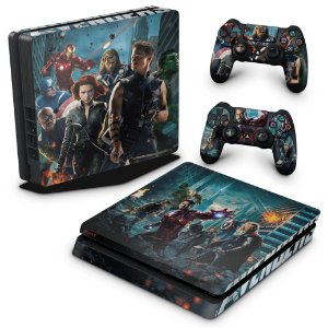 PS4 Slim Skin - The Avengers - Os Vingadores