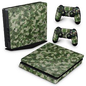 PS4 Slim Skin - Camuflagem Exercito