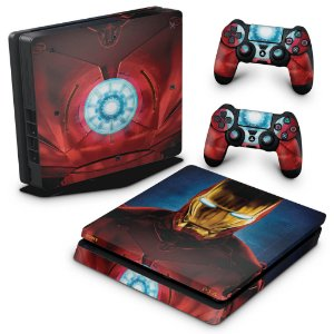 PS4 Slim Skin - Iron Man - Homem de Ferro