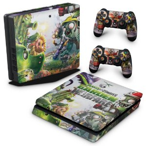PS4 Slim Skin - Plants Vs Zombies Garden Warfare