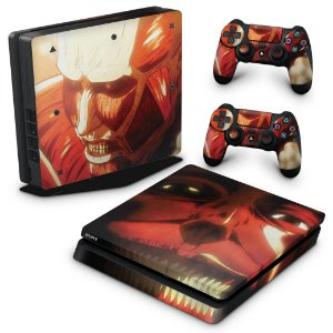 PS4 Slim Skin - Attack On Titan - shingeki no kyojin #B