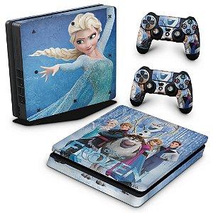PS4 Slim Skin - Frozen