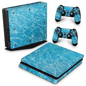 PS4 Slim Skin - Aquático Água