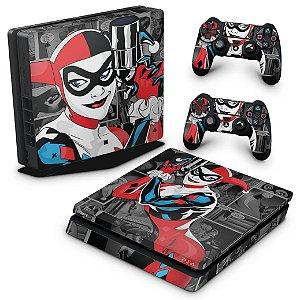 PS4 Slim Skin - Harley Quinn - Arlequina #a