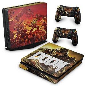 PS4 Slim Skin - Doom
