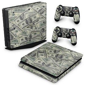 PS4 Slim Skin - Dollar Money Dinheiro