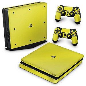 PS4 Slim Skin - Amarelo
