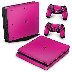 PS4 Slim Skin - Rosa Pink