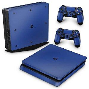 PS4 Slim Skin - Azul Escuro