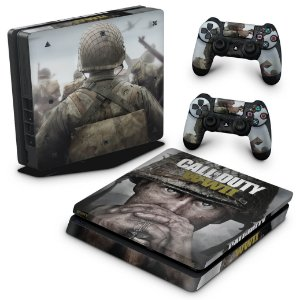 PS4 Slim Skin - Call of Duty WW2