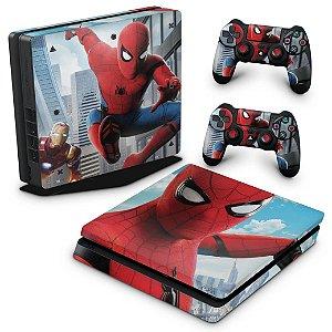 PS4 Slim Skin - Spiderman - Homem Aranha Homecoming