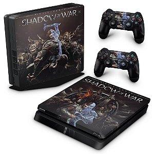 PS4 Slim Skin - Shadow of War
