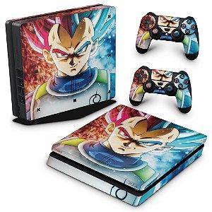 PS4 Slim Skin - Dragon Ball Super Vegeta SSJ GOD