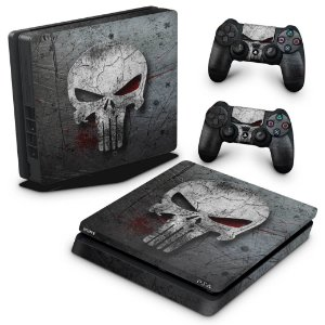 PS4 Slim Skin - The Punisher Justiceiro #b