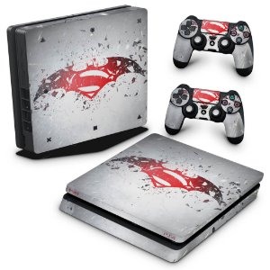 PS4 Slim Skin - Batman vs Superman Logo