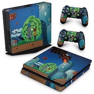 PS4 Slim Skin - Rick And Morty Mario