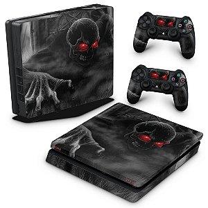 PS4 Slim Skin - Caveira Skull