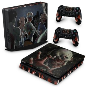 PS4 Slim Skin - Zombie Zumbi The Walking
