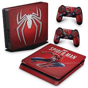 PS4 Slim Skin - Homem Aranha Spider-man