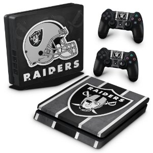 PS4 Slim Skin - Oakland Raiders NFL