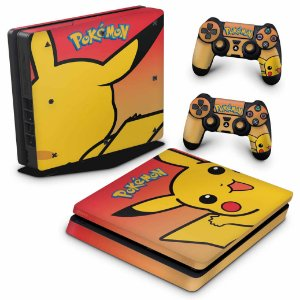 PS4 Slim Skin - Pokemon Pikachu