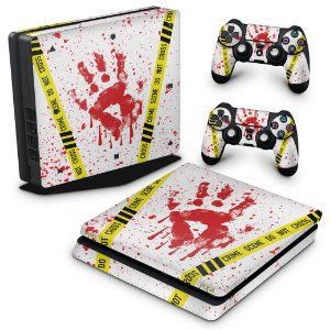 PS4 Slim Skin - Cena de Crime Scene